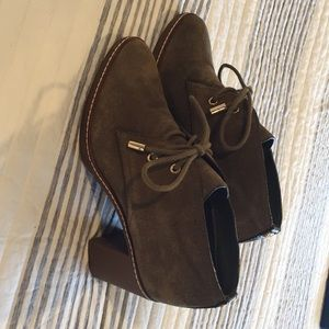 Tory Burch Olive Booties, 6.5
